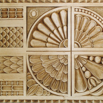 Musterbrett Reliefschnitt I - Schnitzstube Stadlhofer