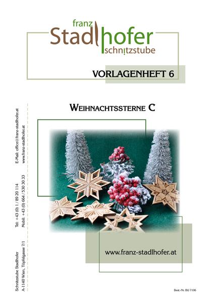 Vorlagenheft Weihnachtssterne C - Schnitzstube Stadlhofer