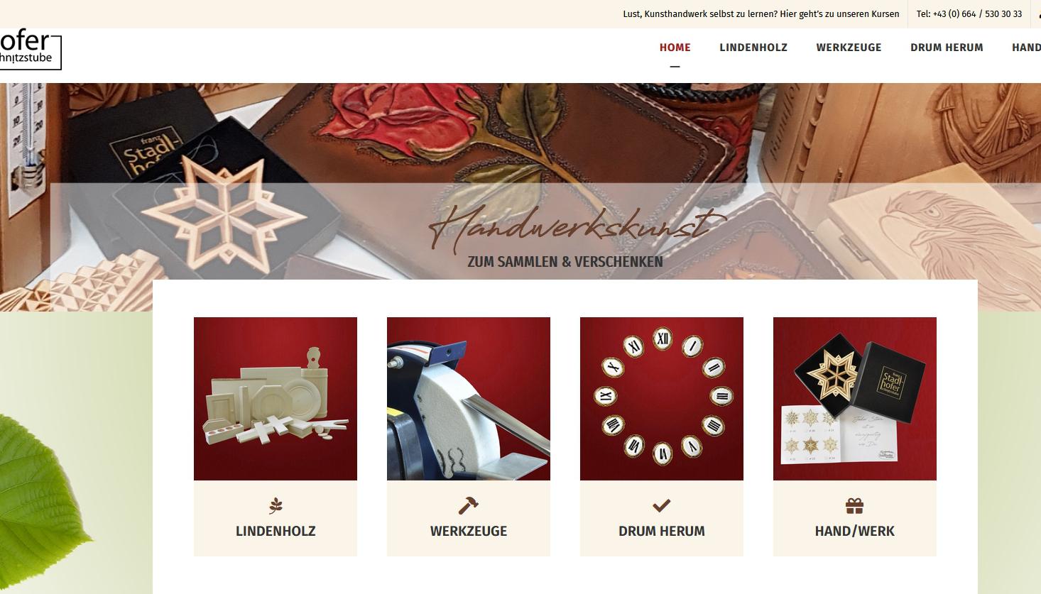 Webshop Schnitzstube Stadlhofer